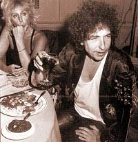 Bob Dylan enjoying a glass of wine
